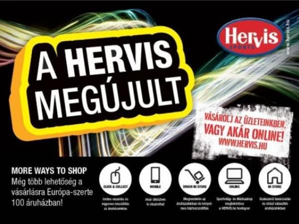 Online is lehet vásárolni a Hervis-nél