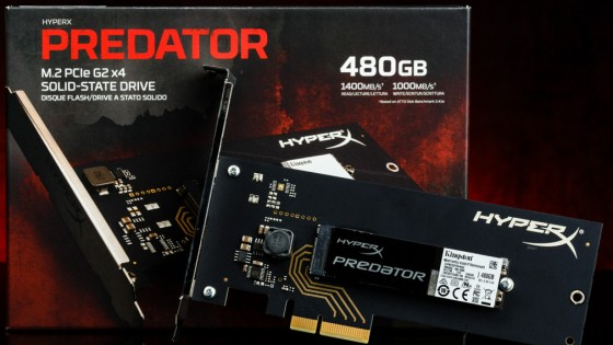 M.2 PCIe HyperX Predator SSD a Kingstontól - fókusz