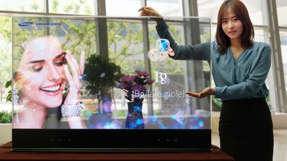 Áttetsző OLED-kijelző a Samsungtól - fókusz