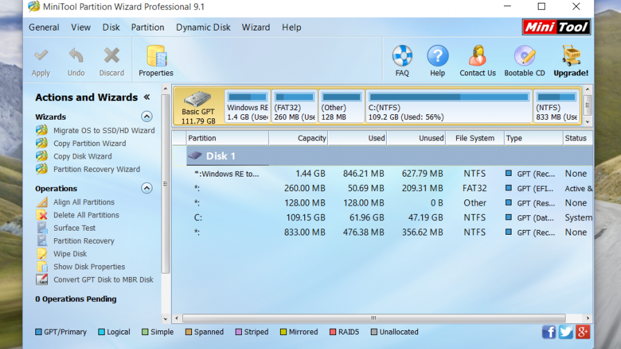 Minitool Partition Wizard Professional 9.1 Knistern